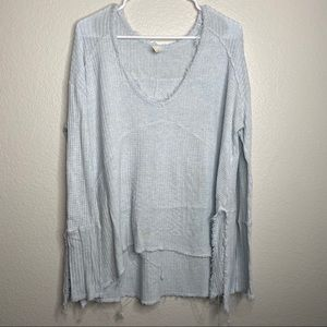 Free People Waffle Thermal Long Sleeve Top